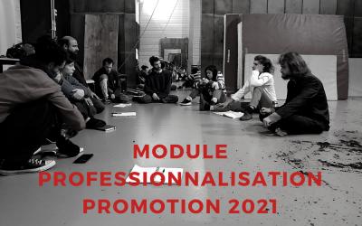 MODULE PROFESSIONNALISATION (IPI) RENTRÉE POUR LA PROMOTION 2021