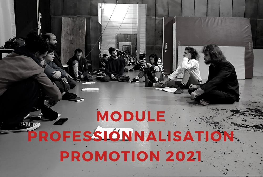 MODULE PROFESSIONNALISATION (IPI) RENTRÉE POUR LA PROMOTION 2021 2021